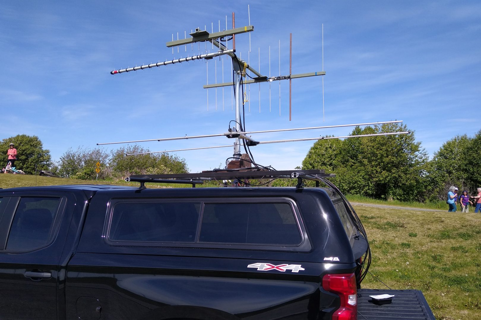 Ham radio rover station set up at Point Woronzof, Alaska