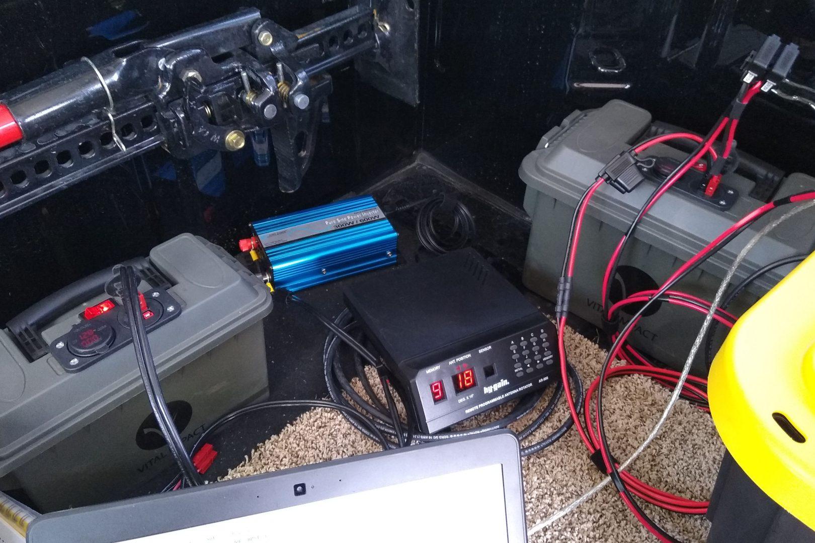Ham radio field power supplies for a rover