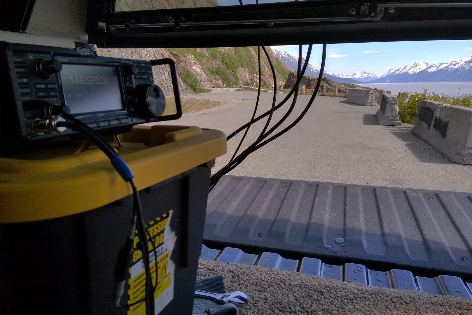Operating VHF-UHF ham radio from Turnagain Arm