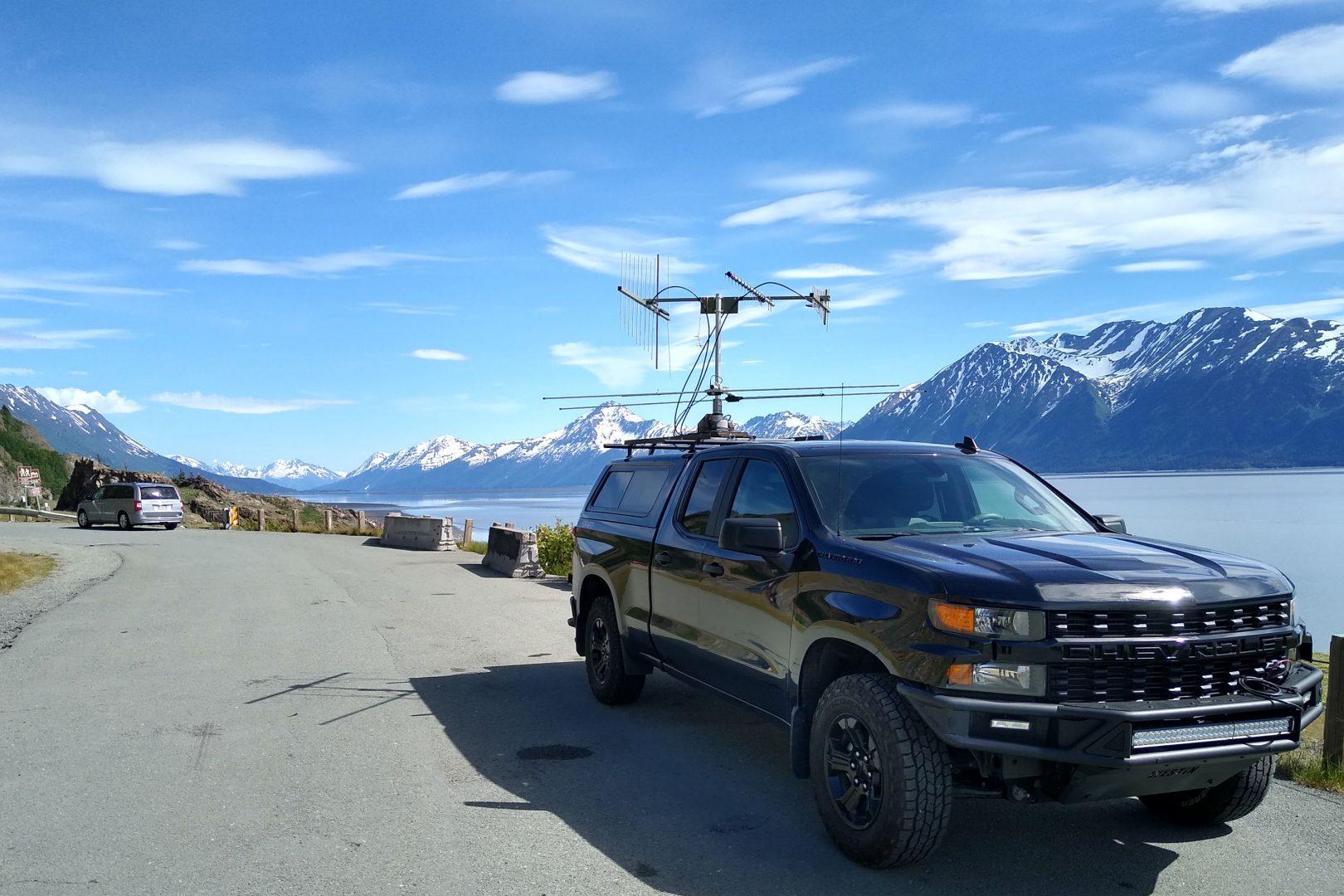 Ham radio rover in Turnagain Arm, Alaska