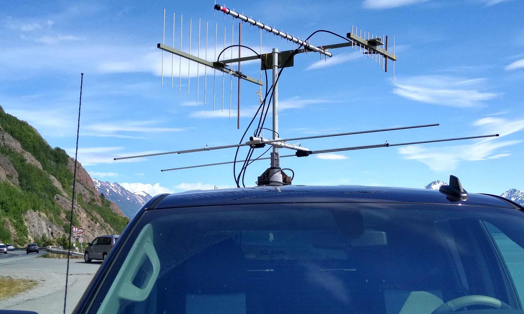 Rover antenna stack