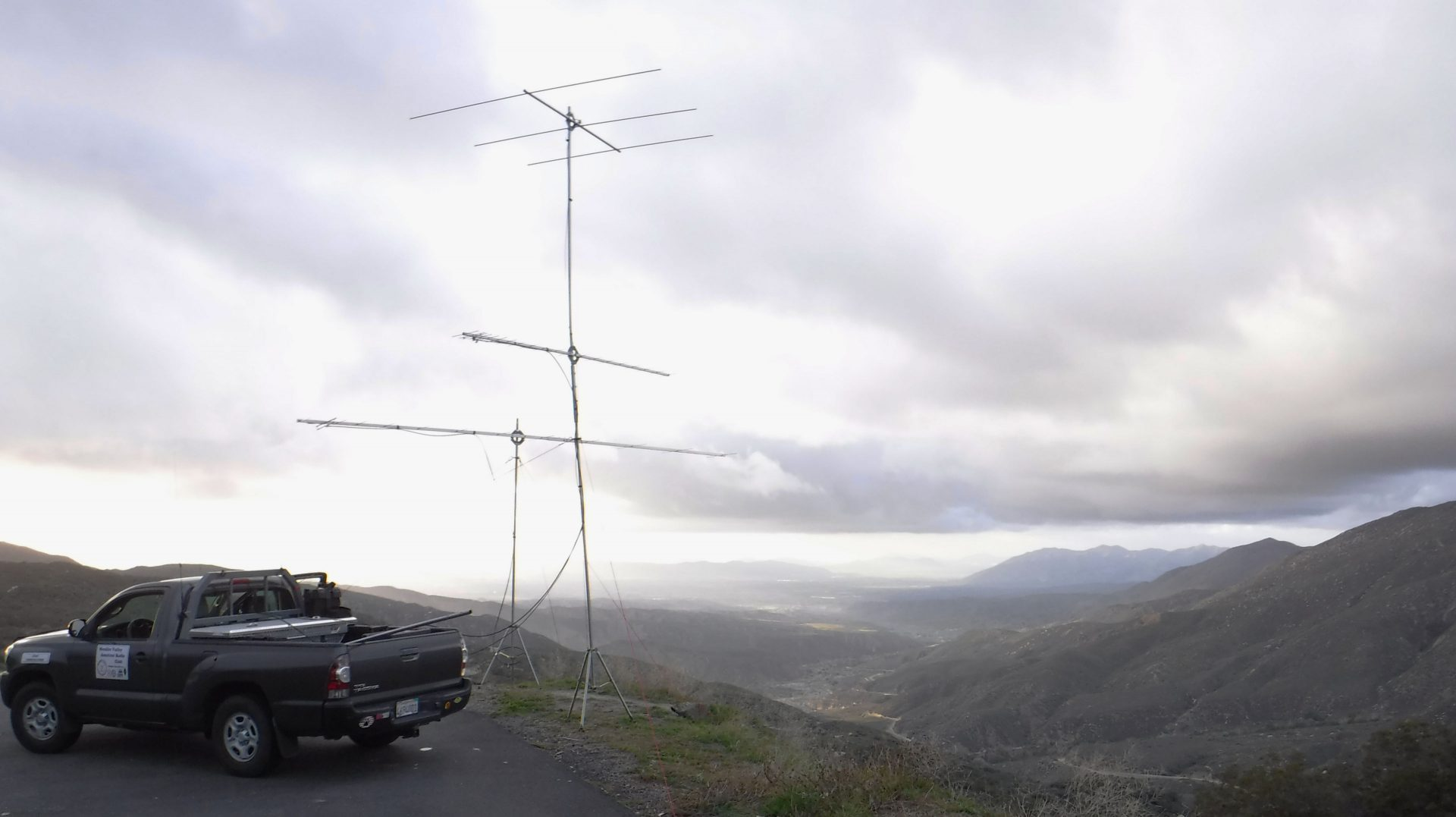 Contest station looking over the Inland Empire