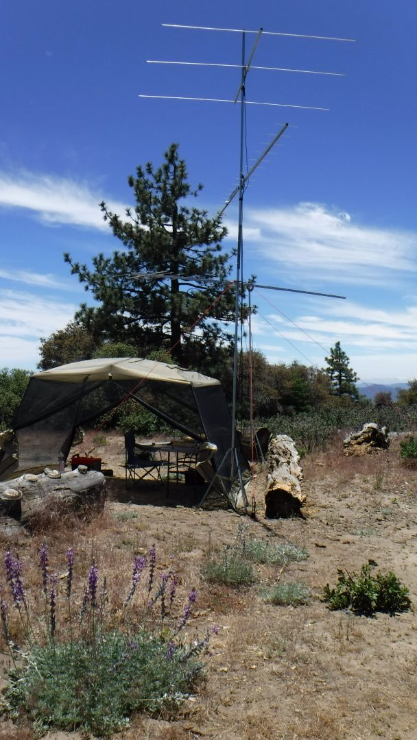 Portable mountain station for ham radio VHF contesting