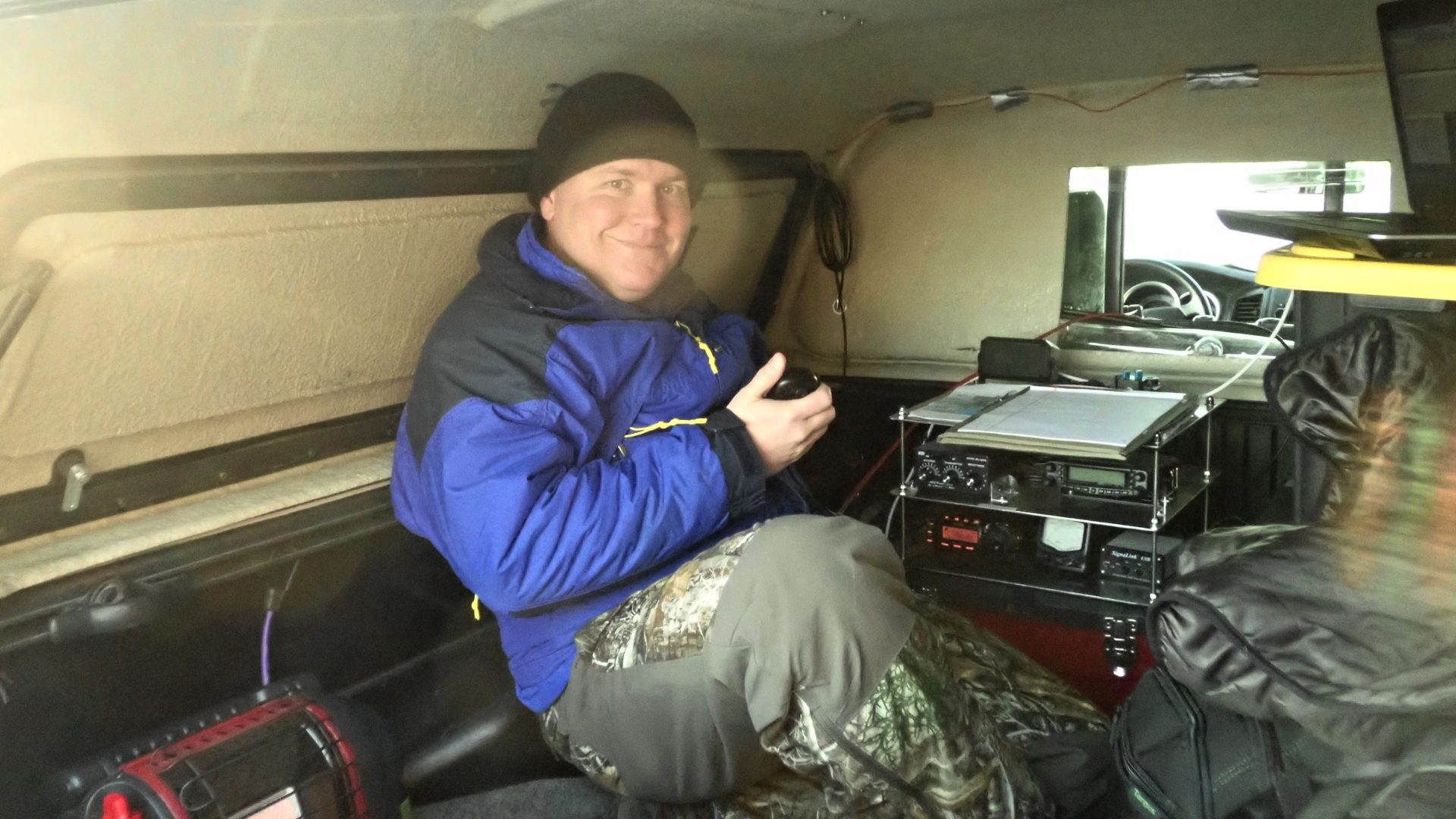 KL7BSC Brandon Clark operating in VHF contest