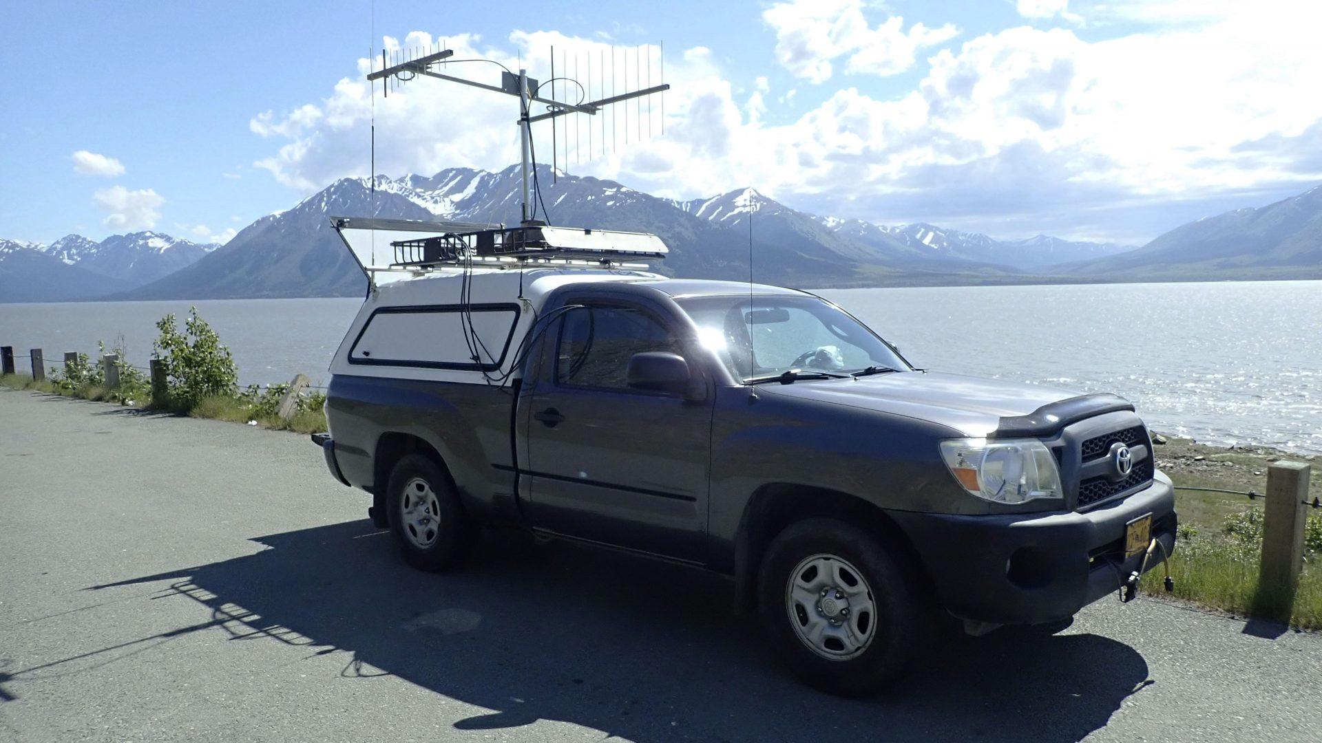 Ham radio rover station in Alaska