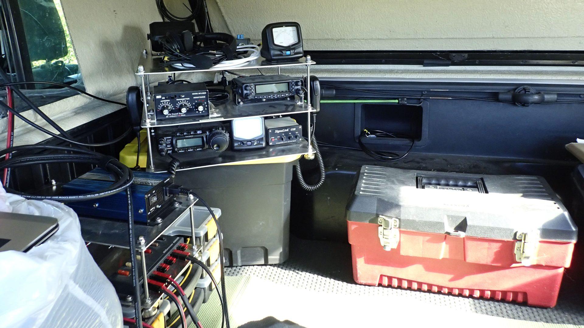 Ham radio rover station go-kit