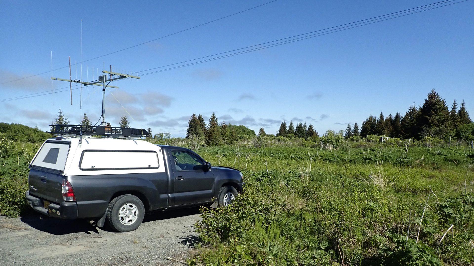VHF/UHF contest rover in Homer, Alaska