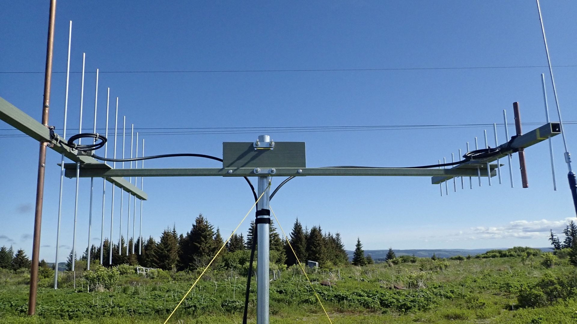 Rover antennas looking towards Anchorage