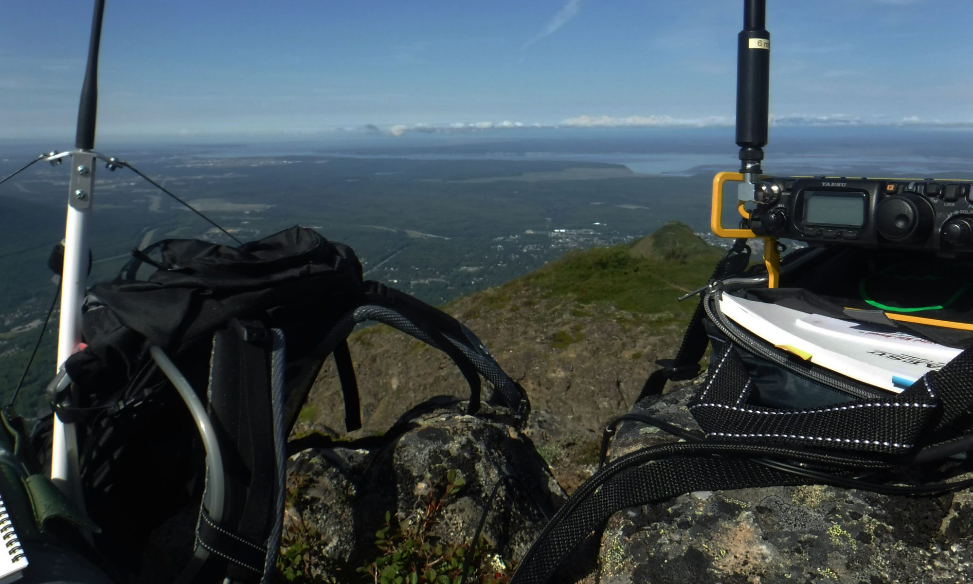 Amateur radio portable operating above Anchorage