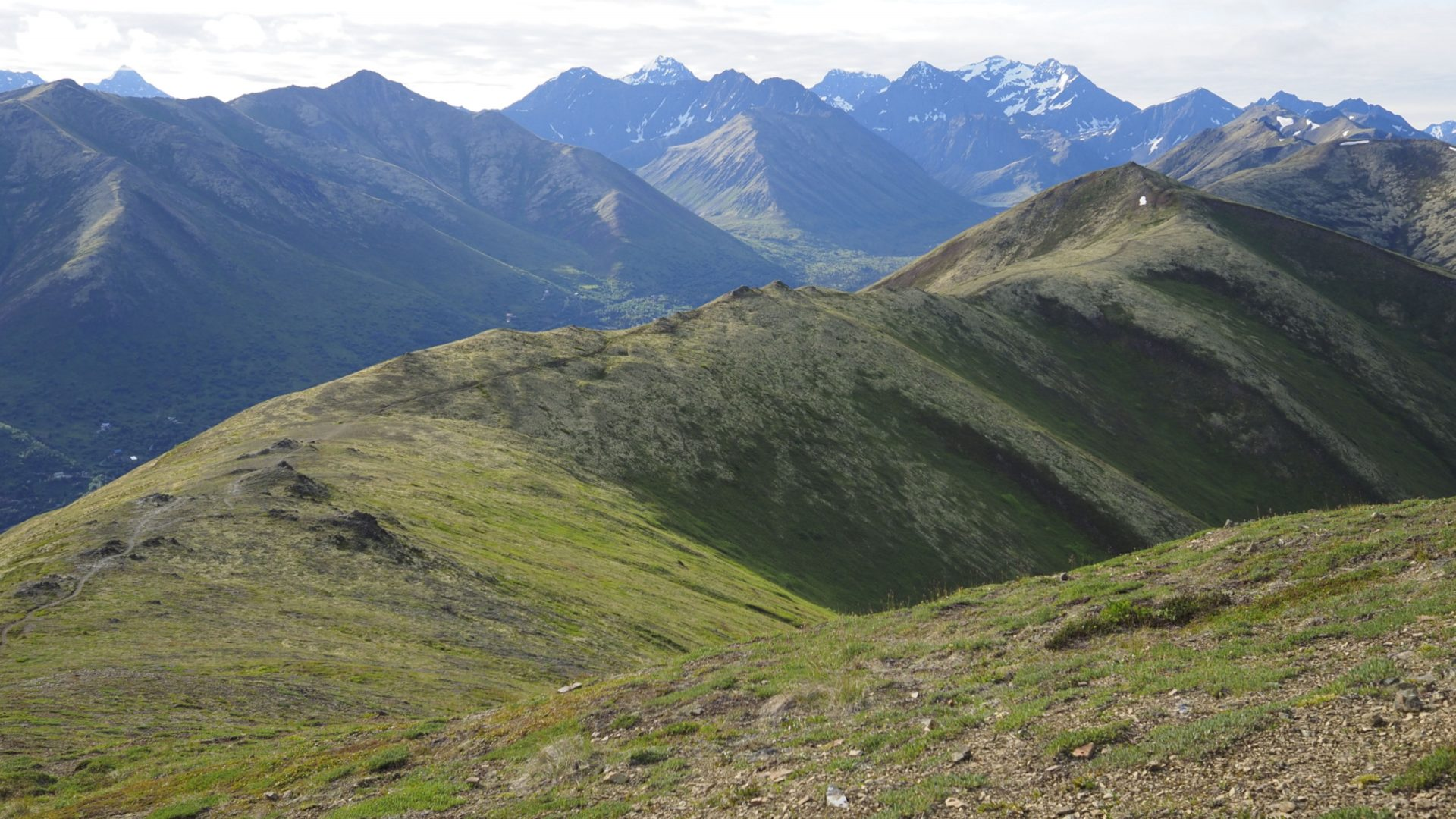 View of the Chugach Mountains