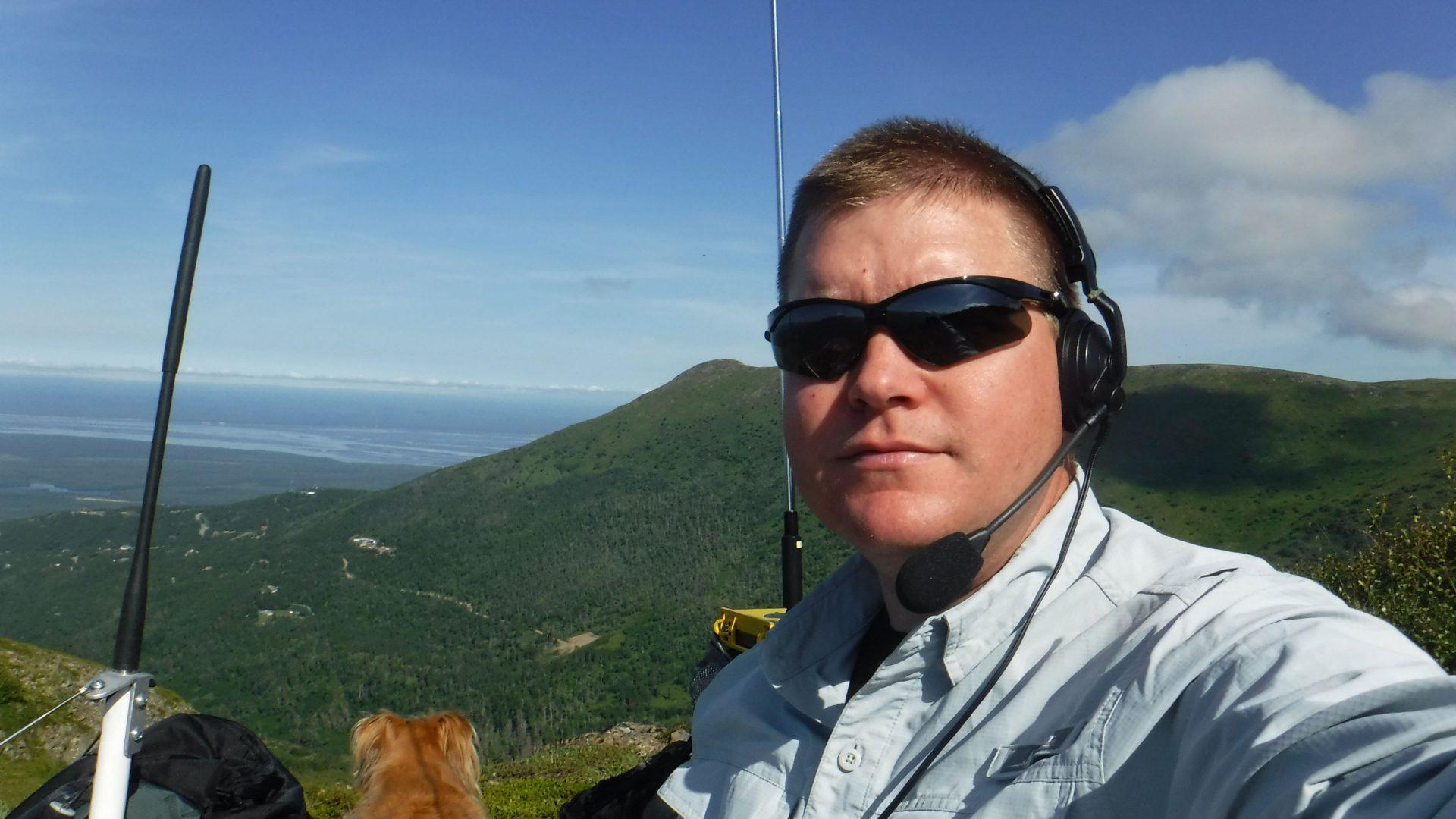 Amateur radi ooperator for the CQ WW VHF