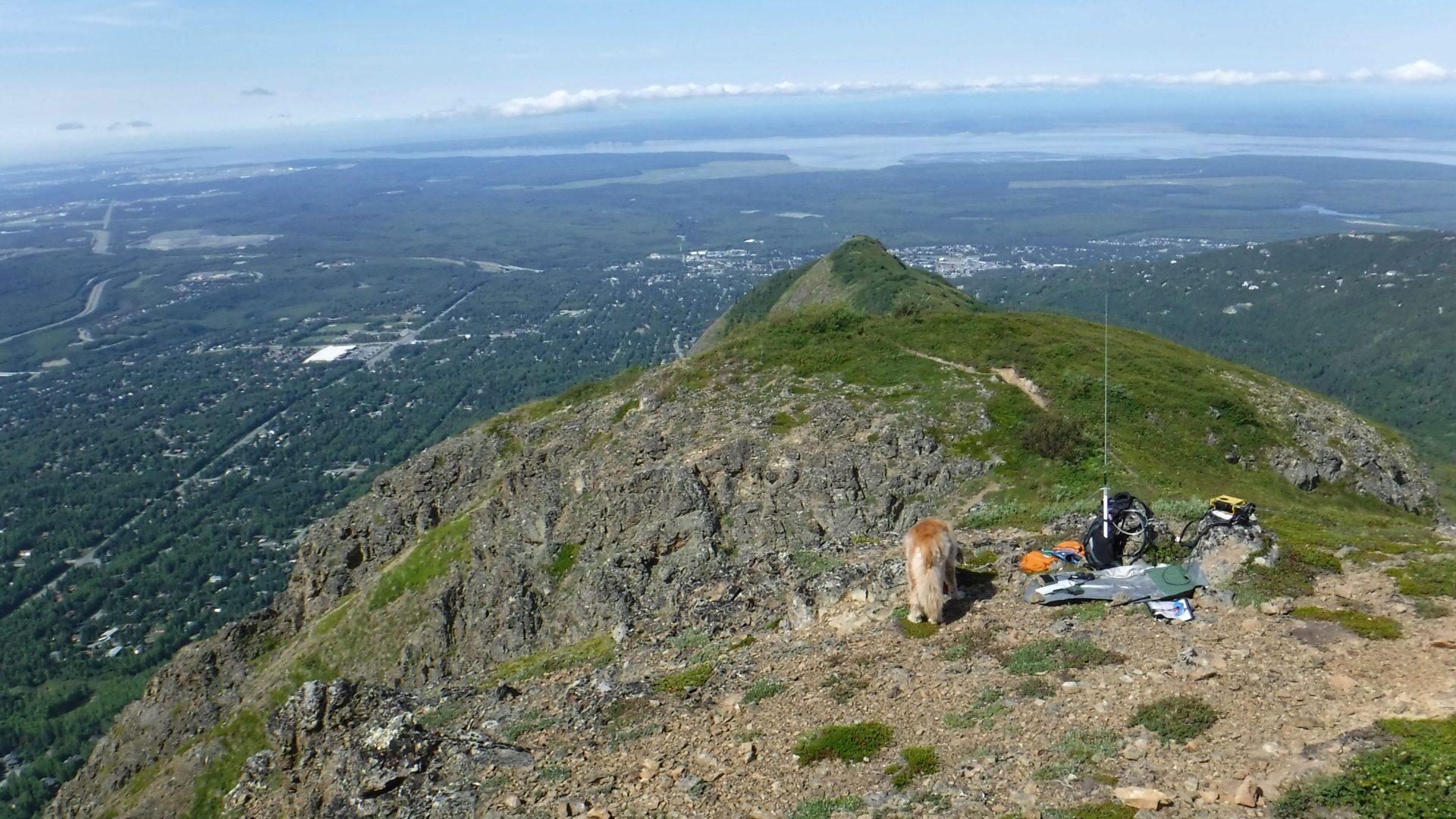 Amateur radio station for SOTA in Alaska