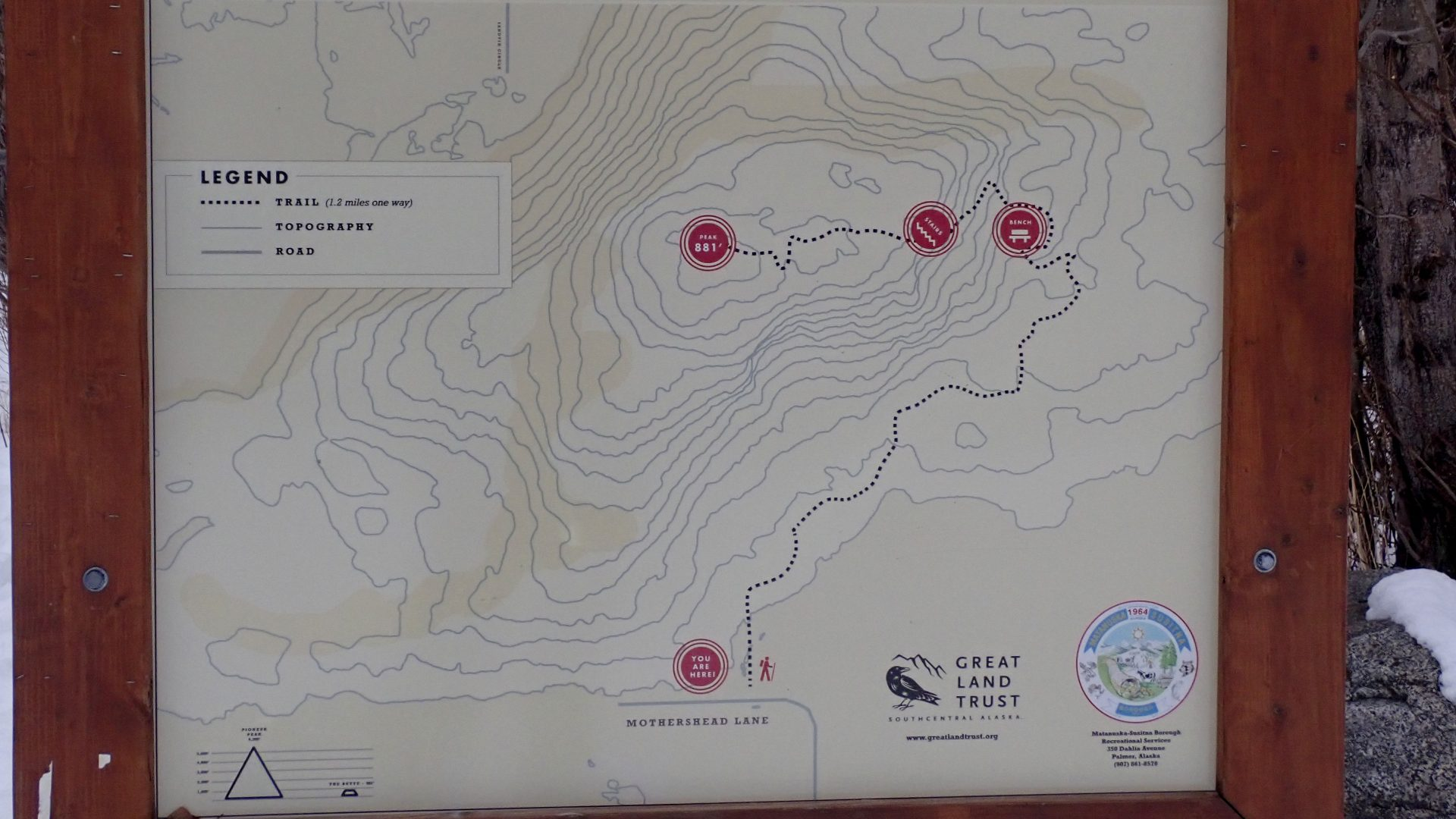 Trail map of Bodenburg Butte