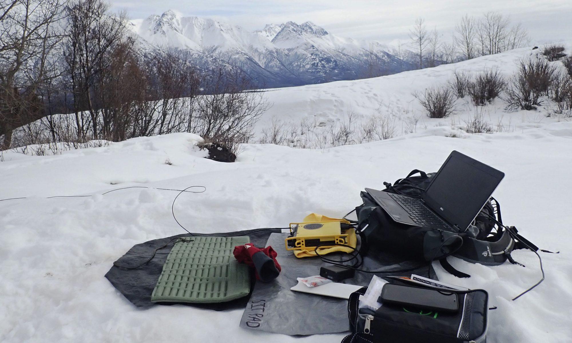 SOTA amateur radio in the snow