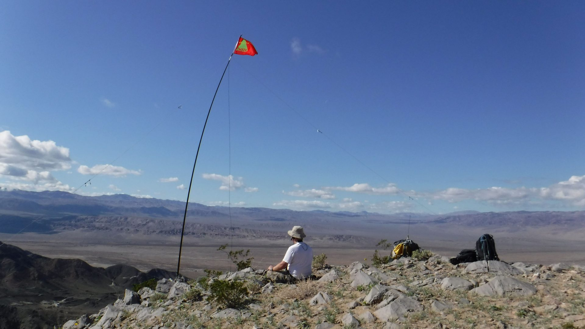 Amateur radio operator portable in Death Valley