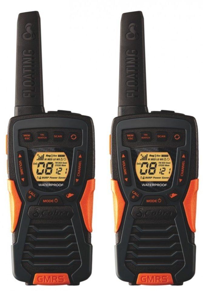 Handheld FRS/GMRS radios